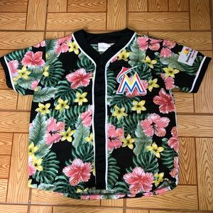 Other - Miami marlins button shirt